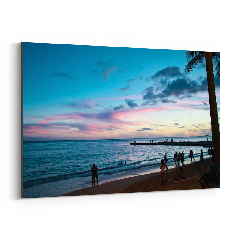 Honolulu Hawaii Beach Coastal Canvas Art Print
