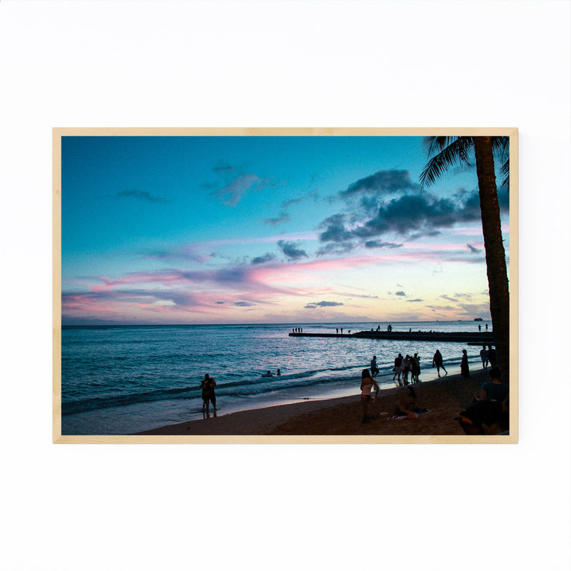 Honolulu Hawaii Beach Coastal Framed Art Print
