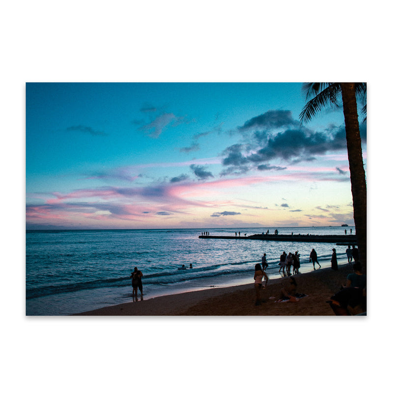 Honolulu Hawaii Beach Coastal Metal Art Print