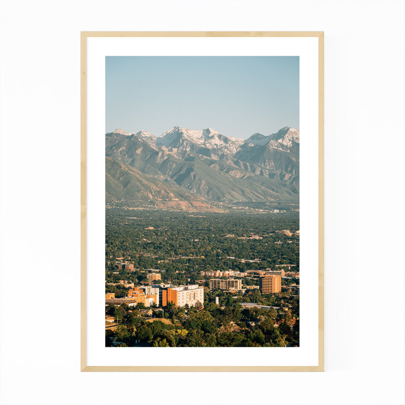 Salt Lake City Utah Ensign Peak Framed Art Print
