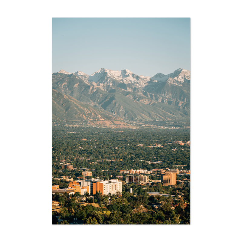 Salt Lake City Utah Ensign Peak Art Print