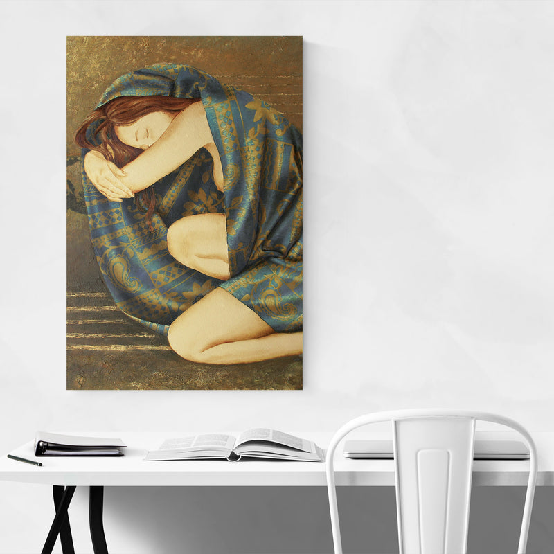 Feminine Figurative Oil Painting Art Print