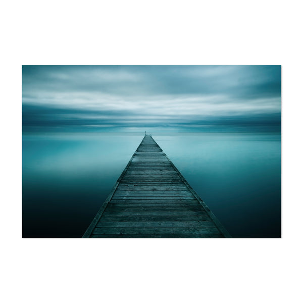 Sweden Beach Pier Photo Art Print