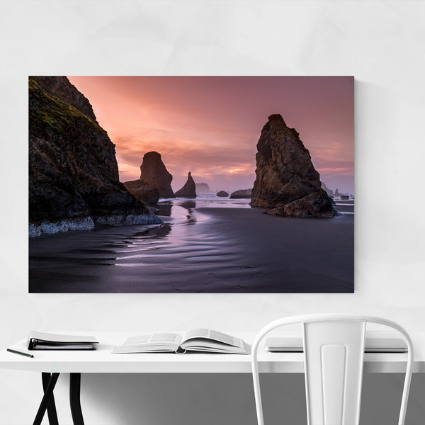 Seastacks Bandon Coast Beach Art Print