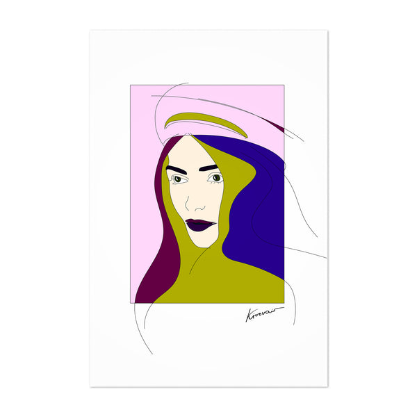 Feminine Figurative Woman Portrait Art Print