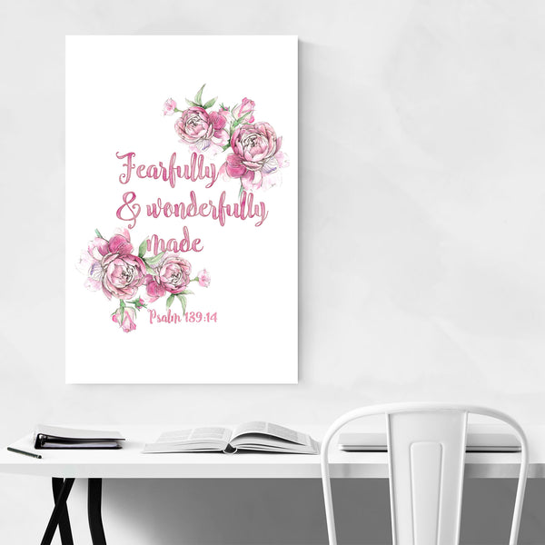 Fearfully Wonderfully Made Quote Art Print