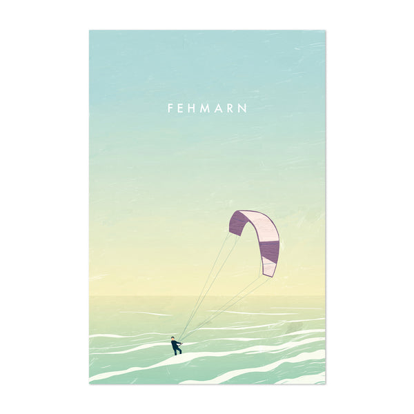 Fehmarn Germany Vintage Travel Art Print