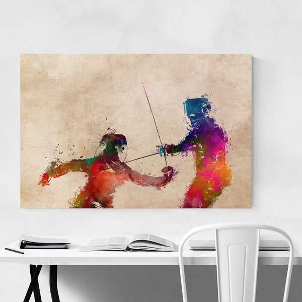 Fencing Fencer Gift Sports Art Print