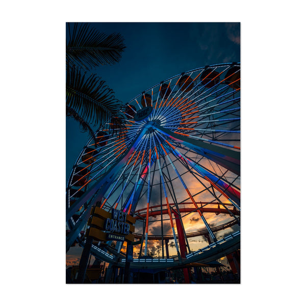 Santa Monica California Beach Photo Art Print