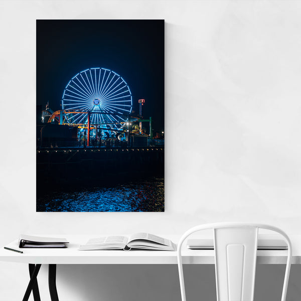 Ferris Wheel Santa Monica CA Art Print