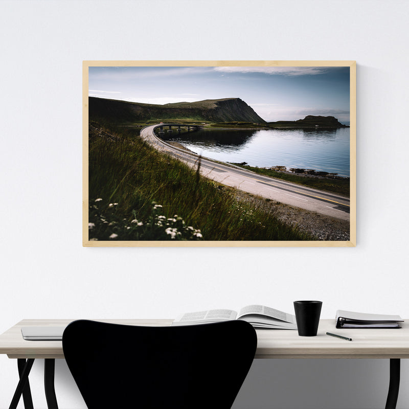 Honningsvåg Norway Houses Framed Art Print