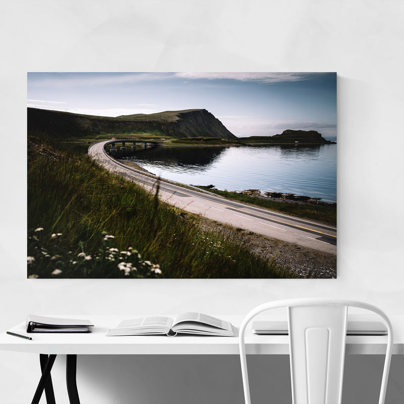 Honningsvåg Norway Houses Metal Art Print