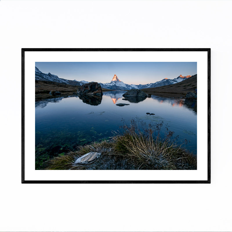 Matterhorn Switzerland Alps Framed Art Print