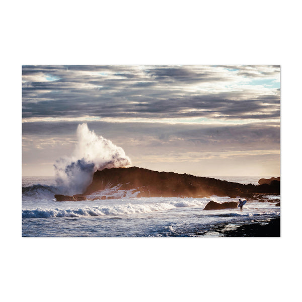 Beach Sunrise Wave Ocean Surfing Art Print