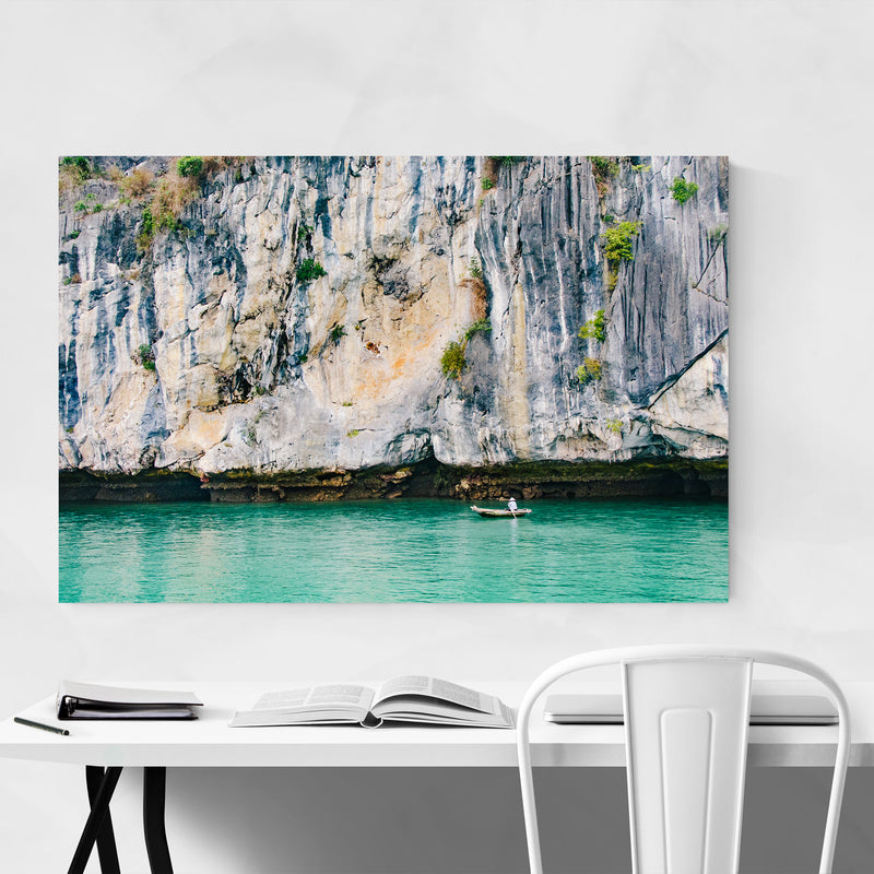 Halong Bay Vietnam Beach Boats Photo Art Print