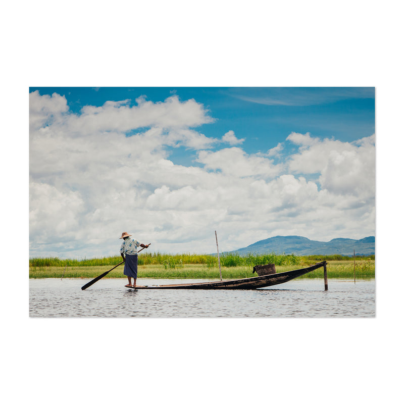 Inle Lake Myanmar Boats Photo Art Print