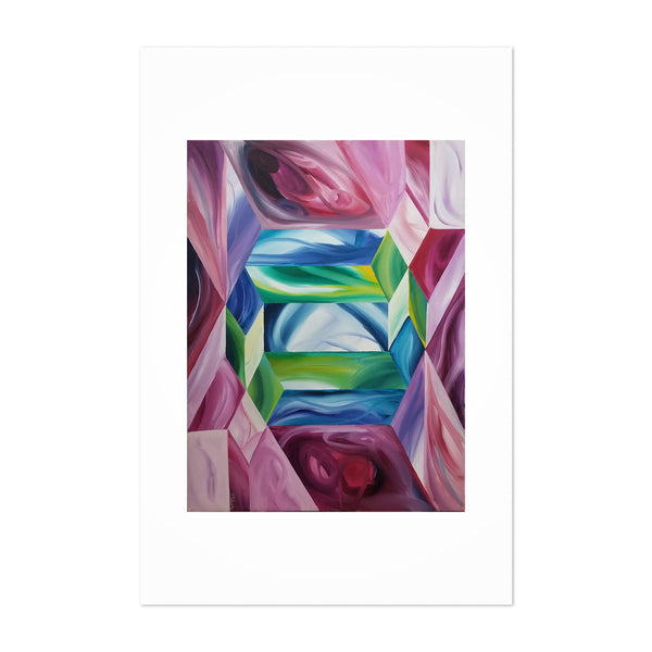 Floral Botanical Abstract Art Print