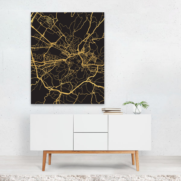 Florence Italy Urban Map Art Print