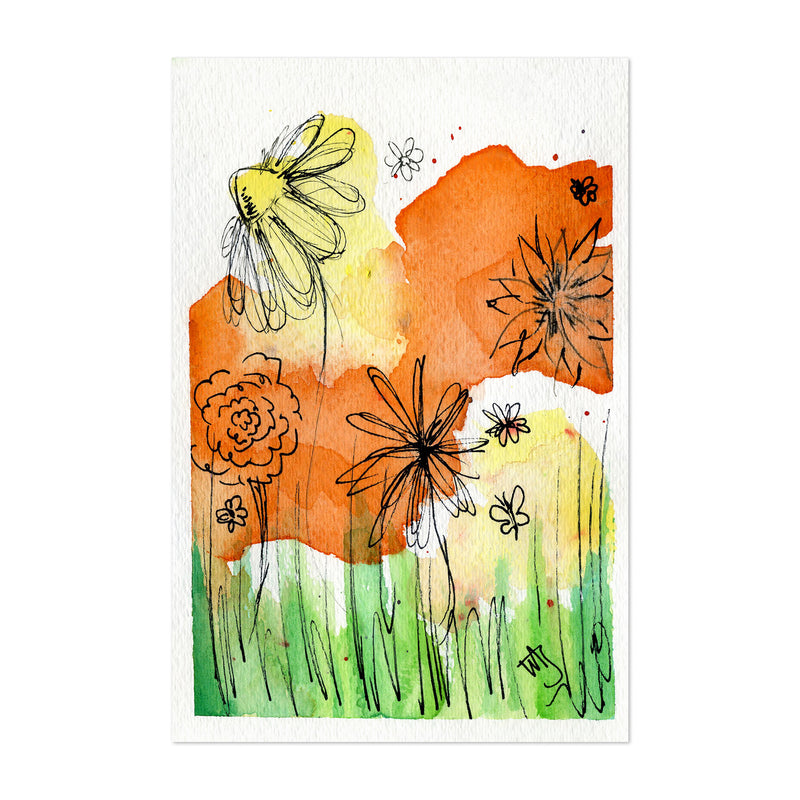 Floral Botanical Painting Art Print