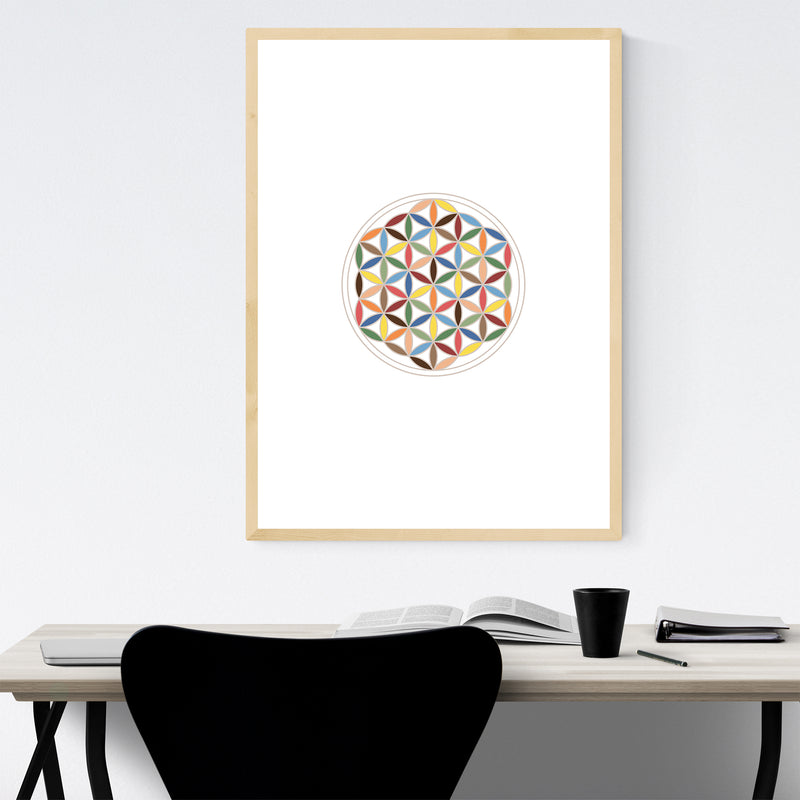 Sacred Geometric Abstract Framed Art Print