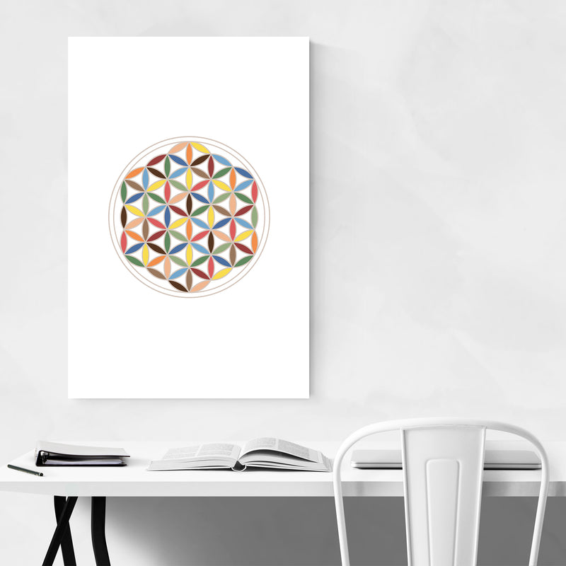 Sacred Geometric Abstract Art Print