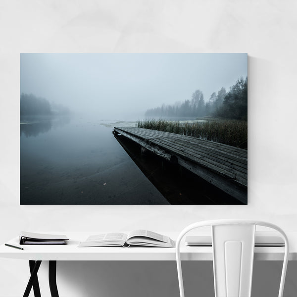 Sweden Beach Pier Nature Photo Art Print