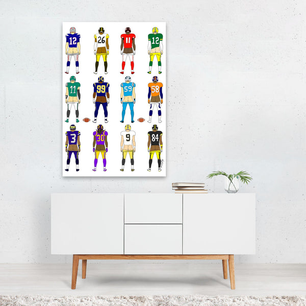 Humor Figurative Football Sports Art Print