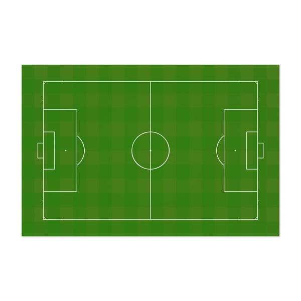 Soccer Field Digital Minimal Sports Art Print