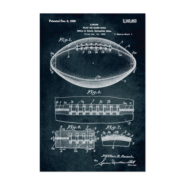 Football Patent Print Art Print