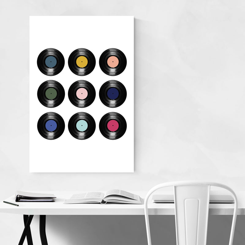 Record Vinyl Music Pattern Art Print