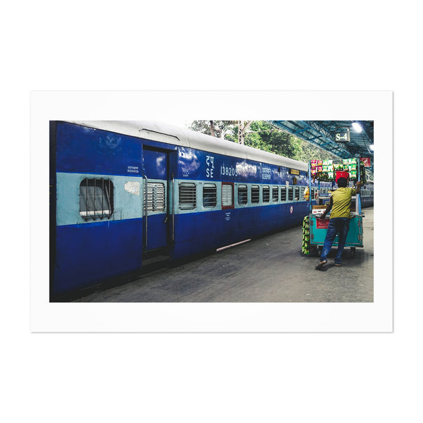 India Train Station Photography Art Print