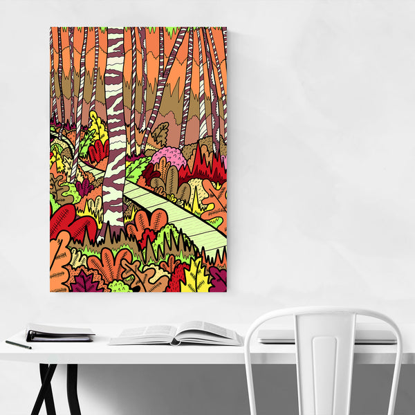 Autumn Forest Nature Abstract Art Print