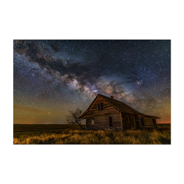 The Milky Way Colorado Abandoned Art Print
