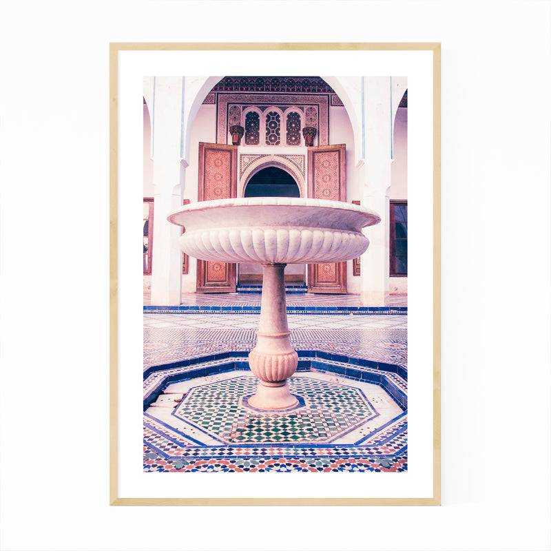Marrakesh Morocco Fountain Photo Framed Art Print