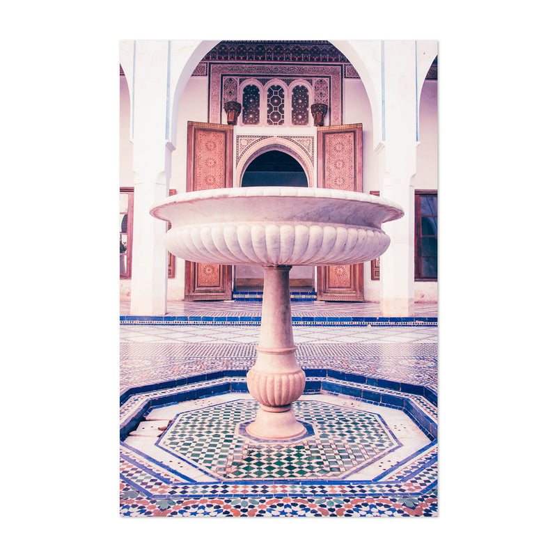 Marrakesh Morocco Fountain Photo Art Print