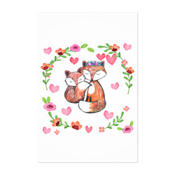 Fox Cute Animal Children's Room Art Print