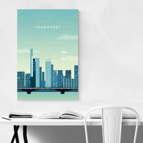 Frankfurt Germany Vintage Travel Art Print