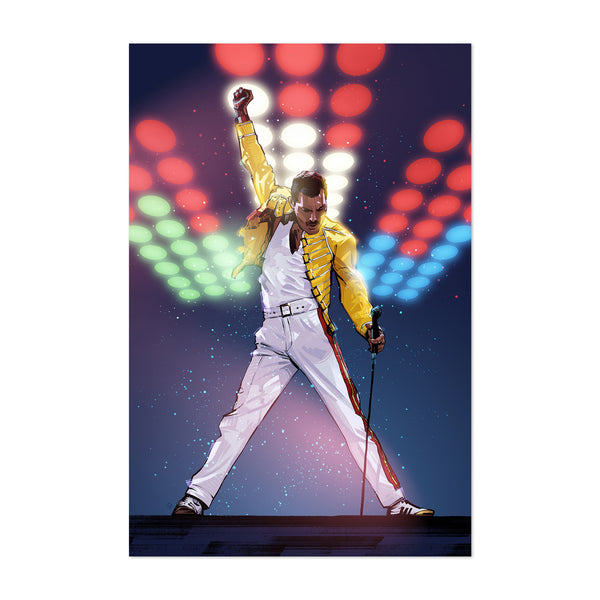 Freddie Mercury Queen Art Print