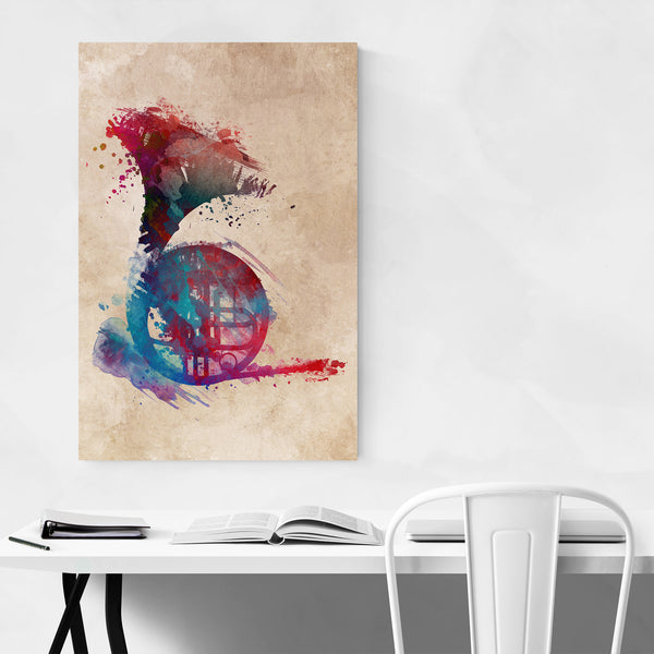French Horn Gift Music Instrument Art Print
