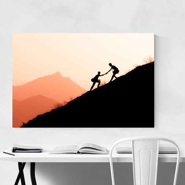 Mountain Layers Hiking Climbing Art Print