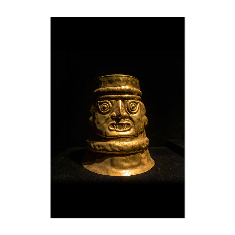Ancient Golden Statue Lima Peru Art Print