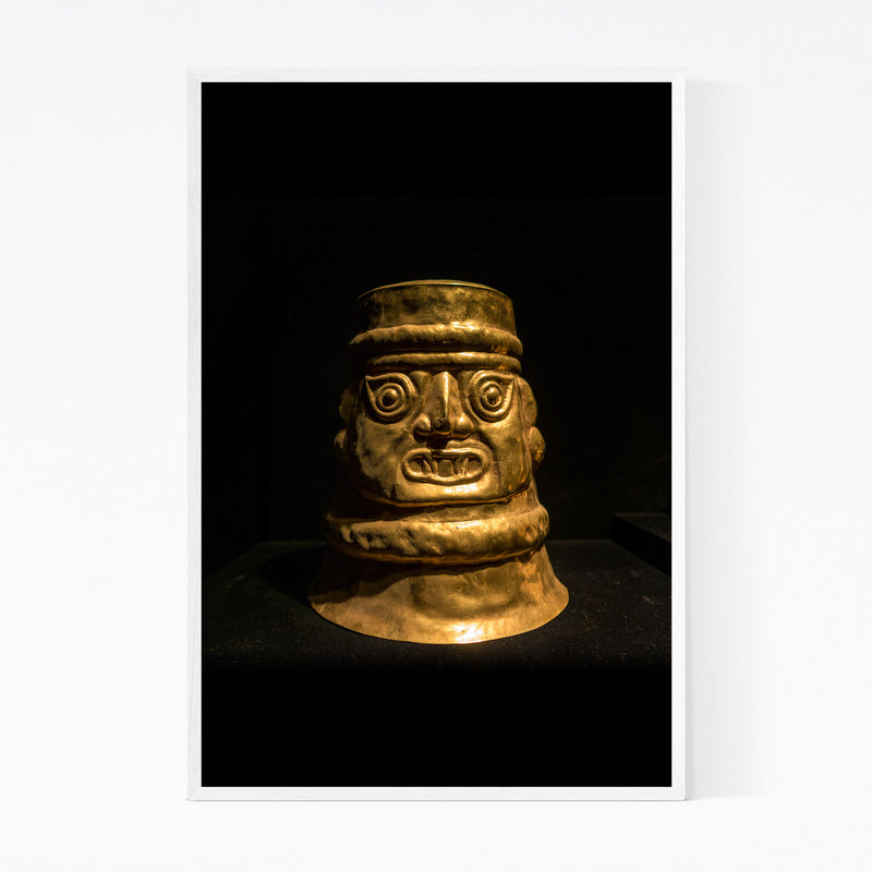Ancient Golden Statue Lima Peru Framed Art Print