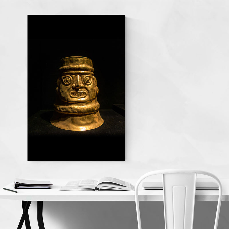 Ancient Golden Statue Lima Peru Canvas Art Print