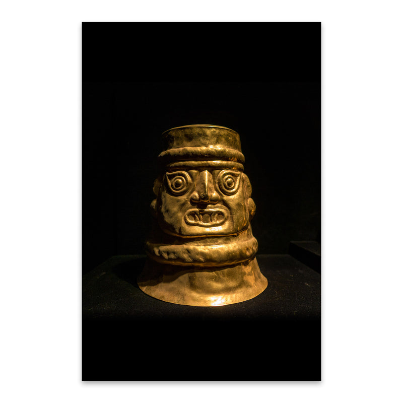 Ancient Golden Statue Lima Peru Metal Art Print
