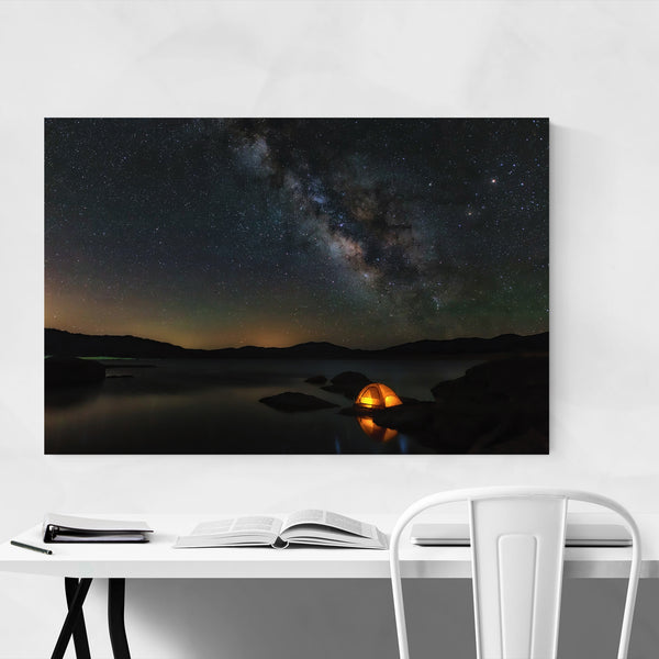 The Milky Way Camping Hiking Art Print
