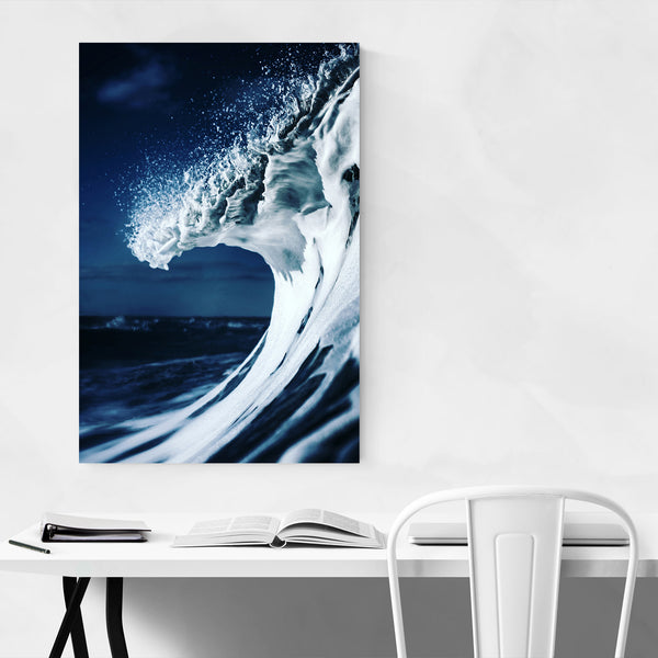 Seafoam Beach Ocean Coastal Waves Art Print