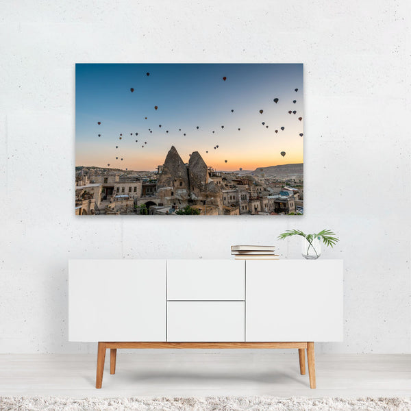 Göreme Turkey Hot Air Balloon Photo Art Print