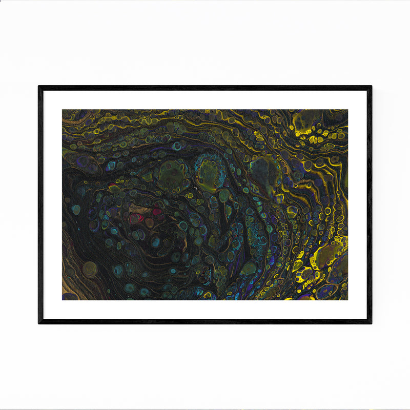 Abstract Acrylic Color Painting Framed Art Print