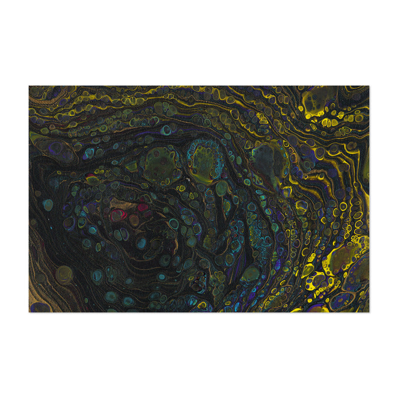 Abstract Acrylic Color Painting Art Print