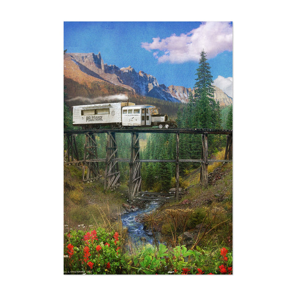 Colorado Mountains Train Photo Art Print